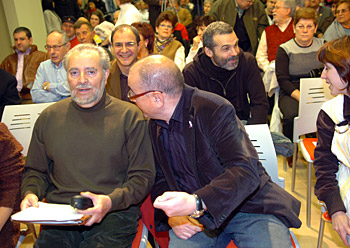 Julio Anguita eta Javier Madrazo, EBren ekitaldian, Bilbon