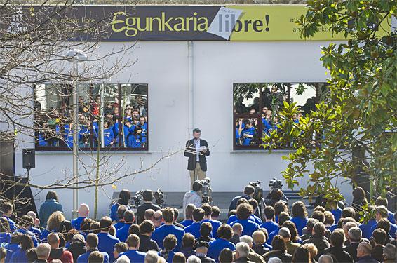 'Egunkaria' itxi zutela 10 urte; ekitaldia Andoainen. Torrealdairen hitzaldia, urteurreneko ekitaldian