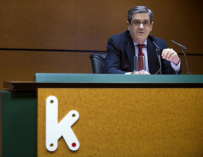 Mario Fernandez Kutxabankeko presidentea. ©Marisol Ramirez / Argazki Press
