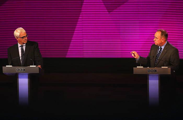 Darling eta Salmond, asteleheneko eztabaidan. ©David Cheskin / Pa Wire, EFE