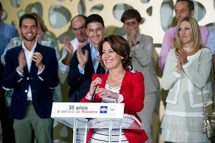Yolanda Barcina, ostiraleko ekitaldian. ©Iñigo Uriz / Argazki Press