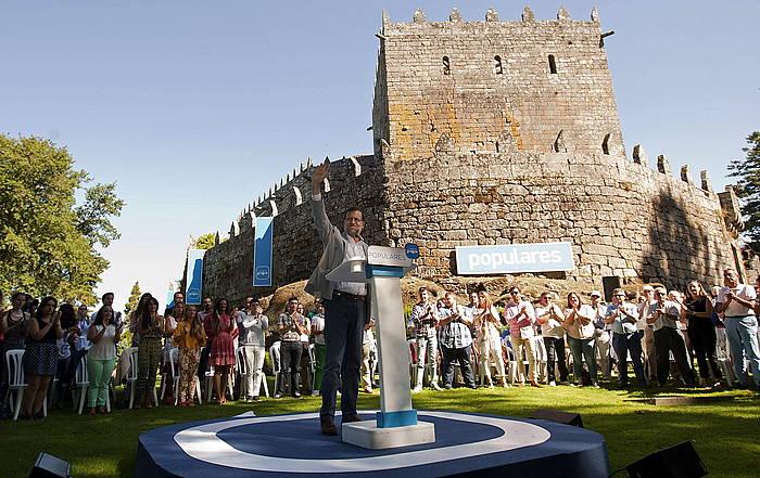 Mariano Rajoy Espainiako Gobernuko presidentea, atzo, Galizian. / ©Tarek, EFE