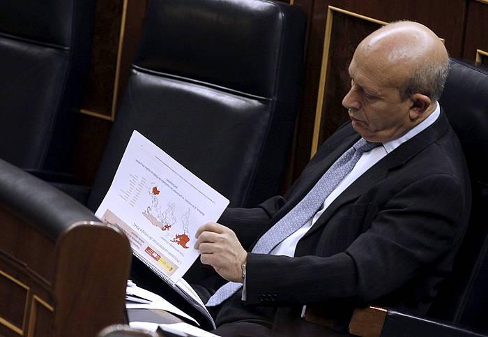 Jose Ignacio Wert, Espainiako Kongresuan, LOMCE onartu zen egunean. ©J. J. Guillen / EFE