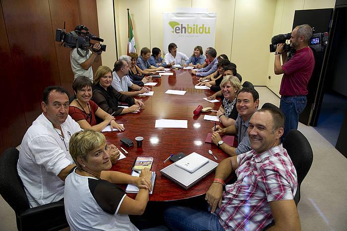 EH Bilduk urte politikoari ekiteko eginiko bilera. / ©Juan Carlos Ruiz, Argazki Press