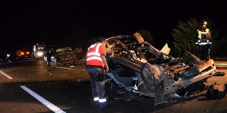 Istripua izan zuten bi autoak. ©/ Nafarroako Gobernua