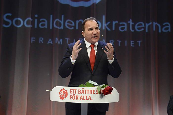 Stefan Lofven Alderdi Sozialdemokratako hautagaia. ©Jonas Ekstromer / EFE