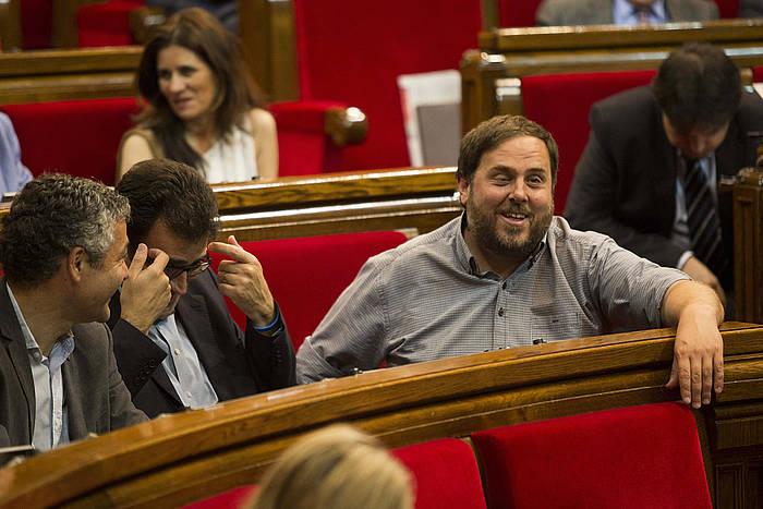 Oriol Junqueras, artxiboko irudi batean. / ©ALEJANDRO GARCIA, EFE