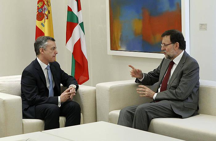 Iñigo Urkullu eta Mariano Rajoy, iazko urtarrilean. / ©Juan M. Espinosa, EFE