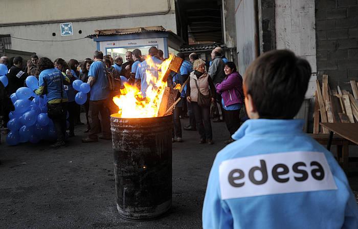 Edesako langileek iaz egindako itxialdia. / ©MARISOL RAMIREZ / ARGAZKI PRESS
