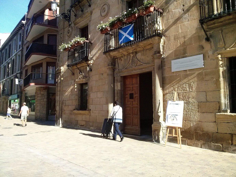 Eskoziako Bandera Zarauzko udaletxean. / ©BERRIA