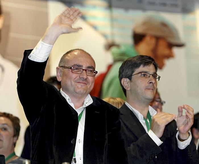 Javier Madrazo eta Mikel Arana EBko kideak, artxiboko irudi batean. / ©Luis Tejido, Efe