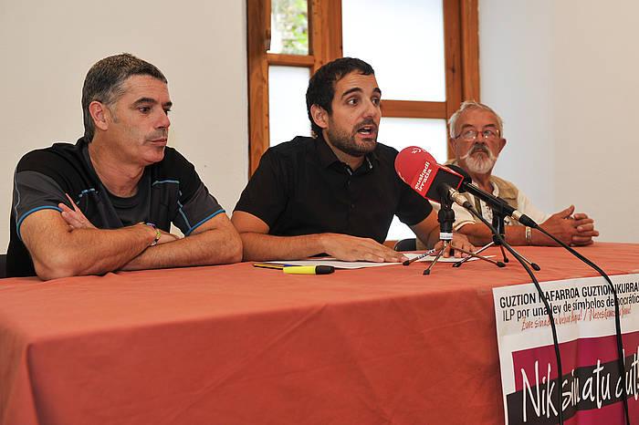 Geure Ikurrak ekimeneko kideak: Pelu Larrea, Eneko Konpains eta Juan Mari Feliu. ©Idoia Zabaleta / Argazki Press