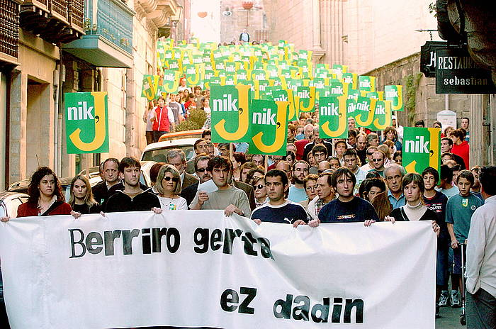 Jokin Zeberioren aldeko manifestazioa, 2004an. ©Gorka Estrada / EFE