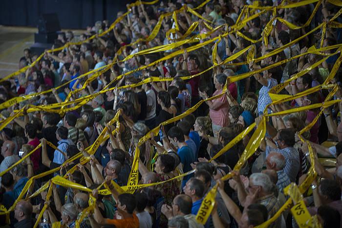 Milaka pertsona bildu ziren atzo Bilboko Miribila frontoian. ©Juanan Ruiz / Argazki Press