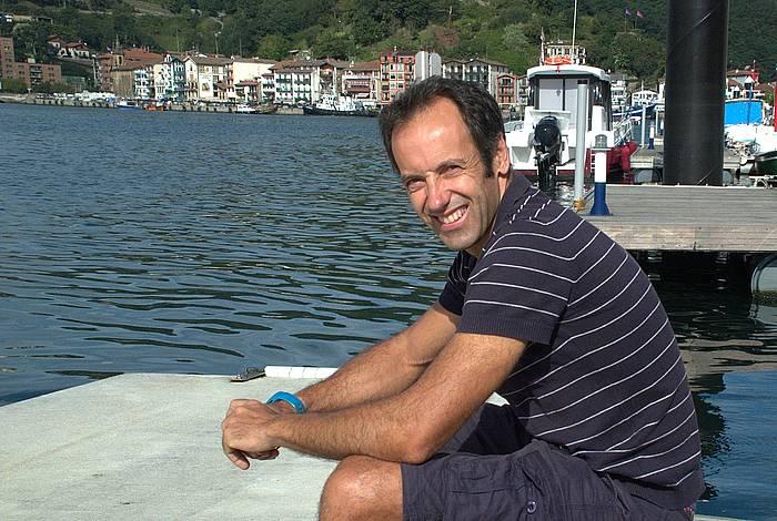 Jon Salsamendi, Urdaibaiko entrenatzailea. ©Andoni Canellada / Argazki Press