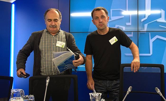 Aldundiaren proposamena aurkezteko egindako agerraldia. ©JON URBE / ARGAZKI PRESS
