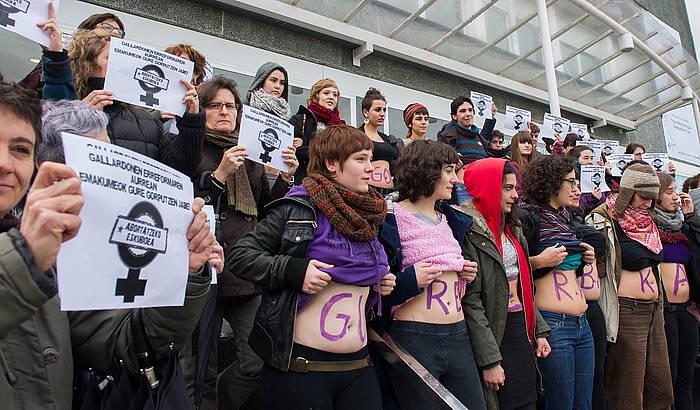 Abortuaren legearen aurkako protesta bat, Donostian. / ©Andoni Canellada, Argazki Press