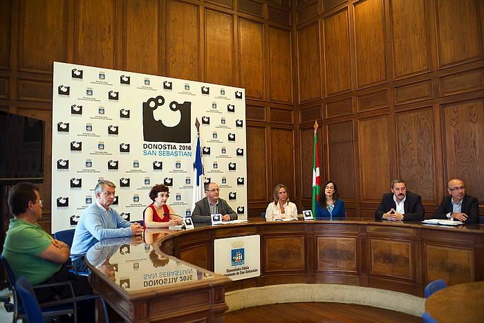 Donostia 2016ri buruzko agerraldia. / ©Juan Carlos Ruiz, Argazki Press