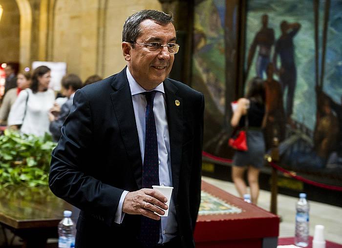Jose Luis Bilbao, atzo, Gernikan. ©Luis Jauregialtzo / Argazki Press