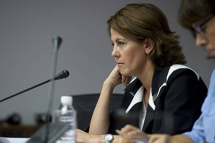 Yolanda Barcina, pasa den astean Parlamentuan. / ©Iñigo Astiz
