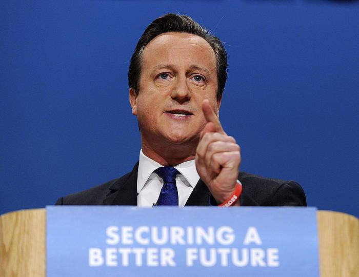 David Cameronen agerraldia, Birminghamen. / ©FACUNDO ARRIZABALAGA, EFE