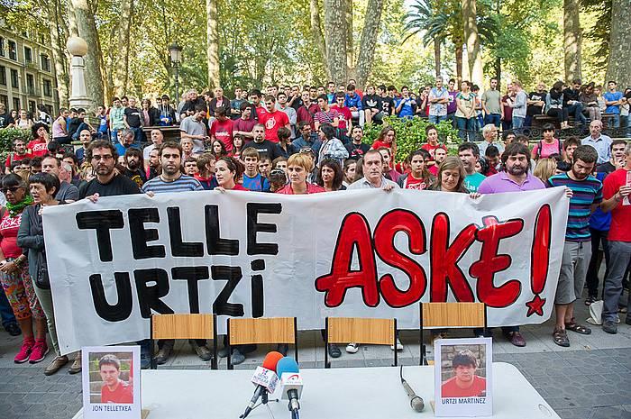 Bilboko Albia lorategietan eginiko elkarretaratzea. / ©Argazki Press