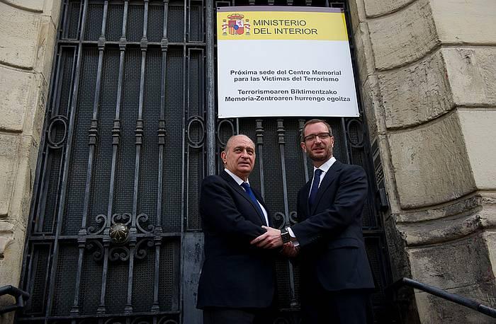 Fernandez Diaz eta Maroto, goizean. / ©Raul Bogajo, Argazki Press