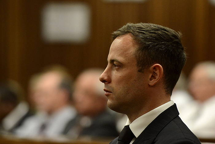 Oscar Pistorius, epaiketan. / ©HERMAN VERWEY/POOL