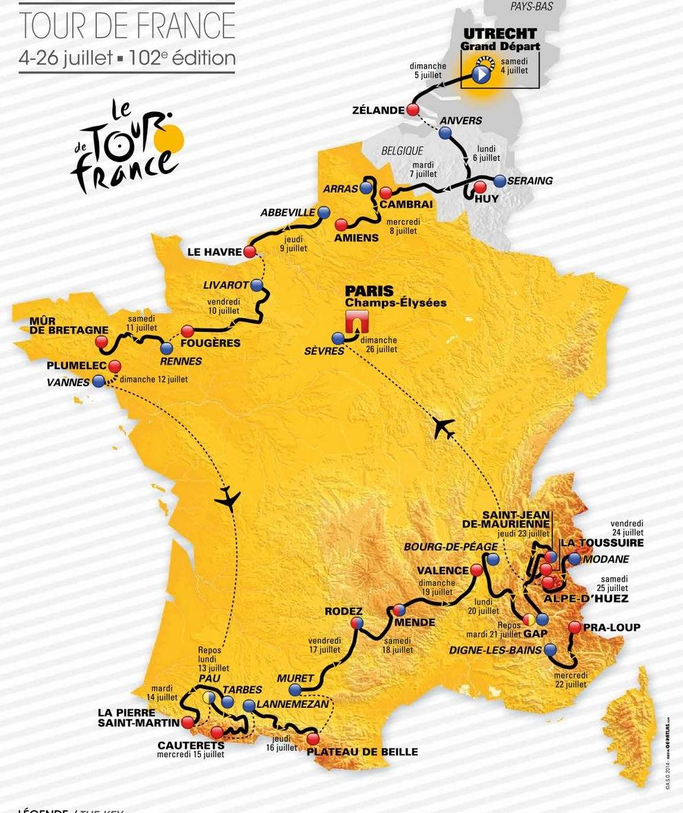 Mauletik igaro eta San Martingo Harrian amaituko da Tourreko etapetako bat