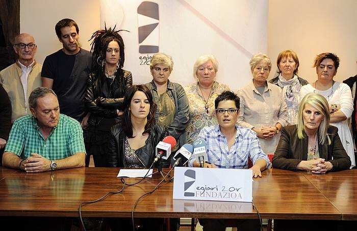 Egiari Zor fundazioaren agerraldia. / ©Argazki Press