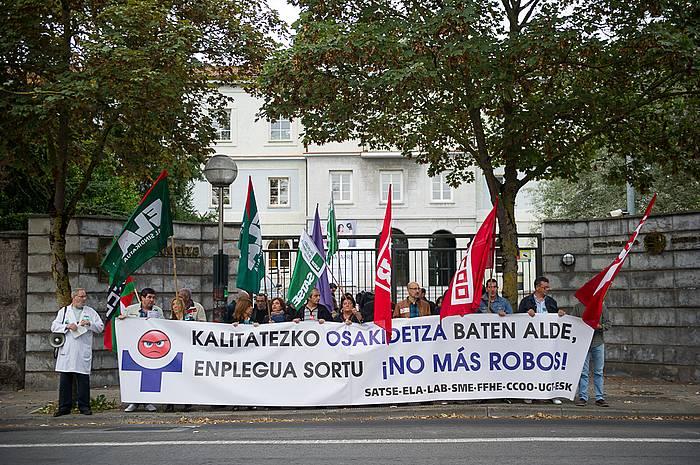 Osakidetzako sindikatuen protesta, gaur. / ©Juanan Ruiz, ARP