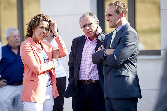 Yolanda Barcina eta Miguel Sanz, iazko ekitaldi batean. ©Iñigo Uriz / Argazki Press