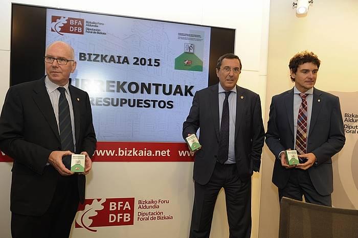 Bizkaiko 2015eko aurrekontuaren aurkezpena. / ©Argazki Press