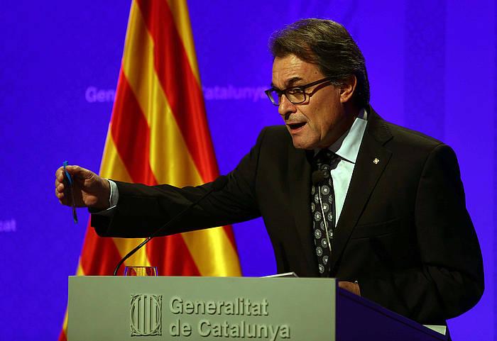 Artur Mas, arratsaldean egindako agerraldian. / ©Toni Albir, EFE