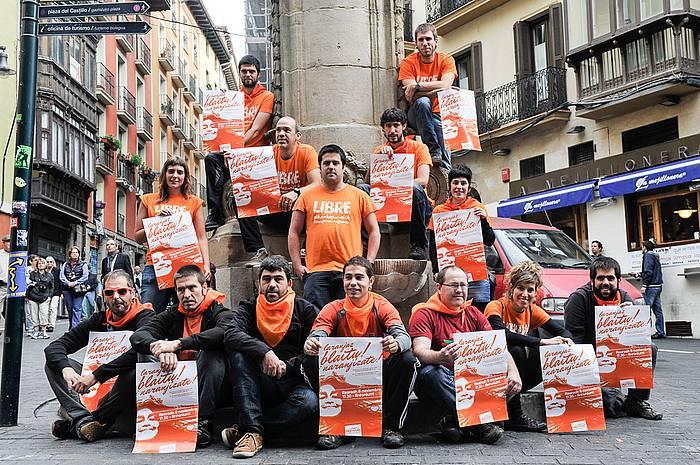 Azaroaren 8ko mobilizazioan parte hartzeko deia egin dute. / ©Idoia Zabaleta, Argazki Press