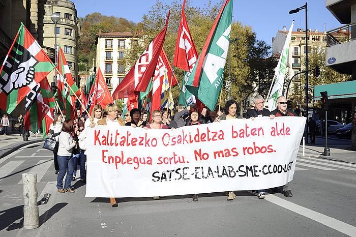 Osakidetzako langileen manifestazioa, Donostian. / ©Jon Urbe, ARP