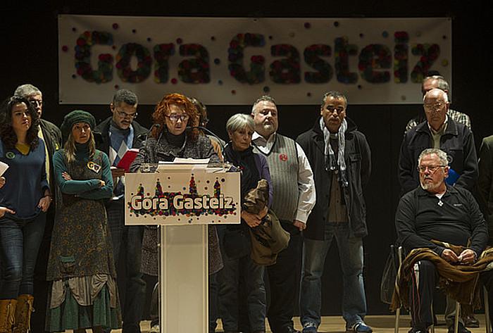 Gora Gasteiz ekinbidearen aurkezpenaren une bat. ©RAUL BOGAJO / ARGAZKI PRESS