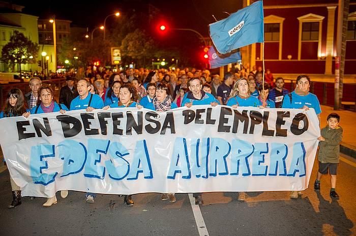 Manifestazio burua, Basauriko kaleetan zehar. ©Marisol Ramirez / Argazki Press
