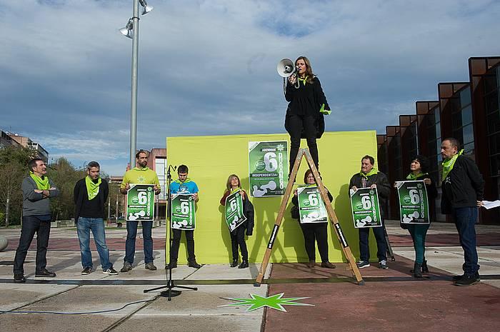 Independentistak sareak Durangon eginiko agerraldia. ©Raul Bogajo / Argazki Press