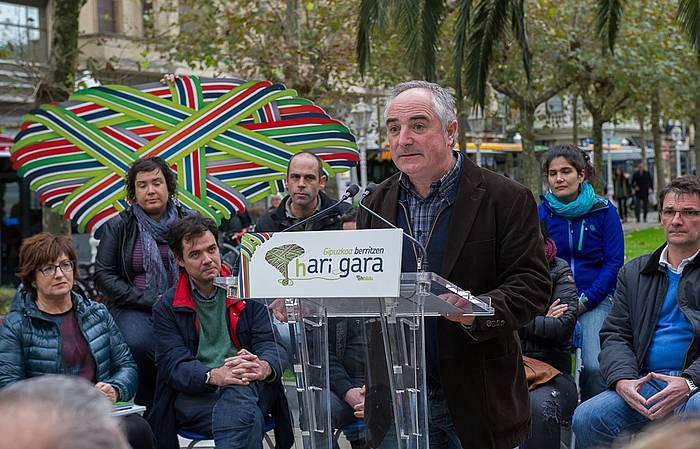 Xabier Olano, Donostian egindako agerraldian. / ©Andoni Canellada, ARP