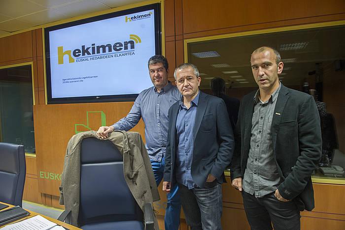 Hekimen euskarazko komunikabideen elkartearen agerraldia Eusko Legebiltzarreko Kultura eta Euskara Batzordean.