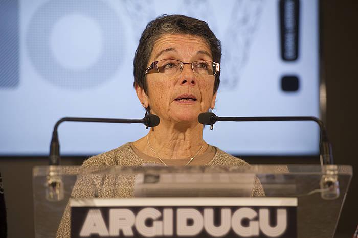 Teresa Toda, Sareko bozeramailea. ©Juan Carlos Ruiz / Argazki Press