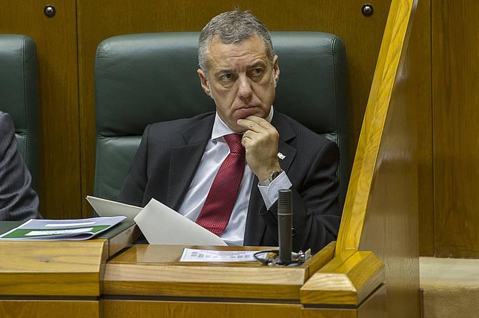 Iñigo Urkullu, Eusko Legebiltzarrean, artxiboko irudi batean. / ©Juanan Ruiz, ARP
