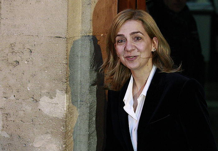 Cristina Borboikoa, otsailean, Palmako Auzitegitik ateratzen. ©Ballesteros / EFE