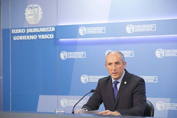 Josu Erkoreka Eusko Jaurlaritzako bozeramailea. ©Adrian Ruiz De Hierro / EFE