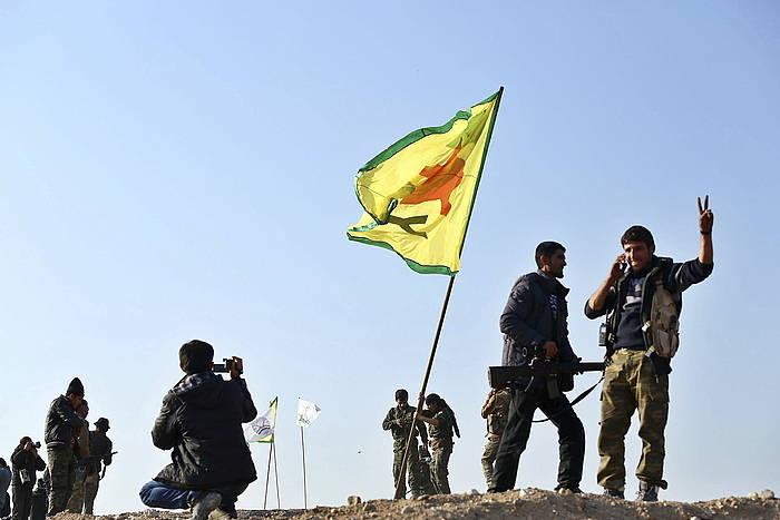 Siriako kurduen Kobane herrian borrokak YPG Herriaren Babeserako Unitateen eta IS Estatu Islamikoaren artean. ©Sedat Suna / EFe