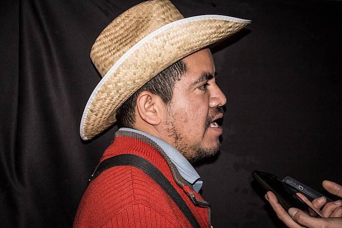 Isidro Vicario Aguilar, Ayotzinapako desagertuen gurasoen abokatua. ©Valentina Valle
