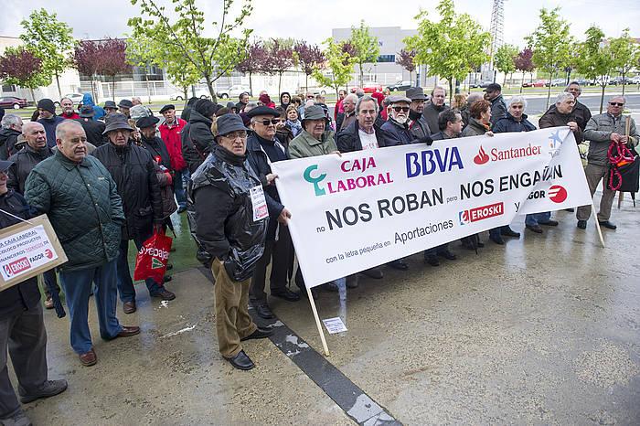 Kaltetuak elkartearen protesta bat, 2013ko apirilean. / ©Juanan Ruiz, Argazki Press