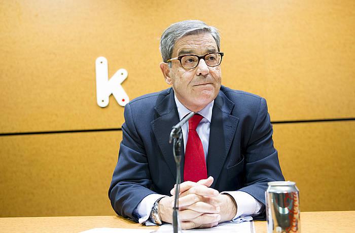 Mario Fernandez, Kutxabankeko presidente zela. ©Marisol Ramirez / Argazki Press