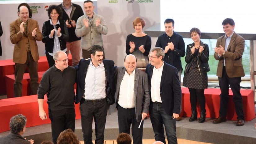Joseba Egibar, Eneko Goia, Andoni Ortuzar eta Markel Olano. ©/ EAJ